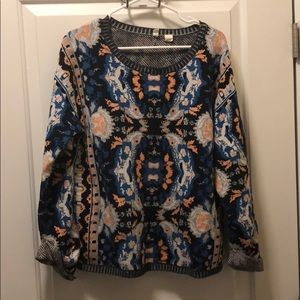 Anthropologie pattern sweater